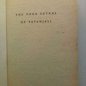 The Yoga Sutras of Patanjali Used Book
