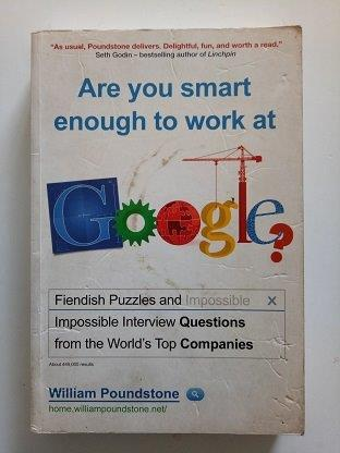 Are You Smart Enough To Work At Google Used Books