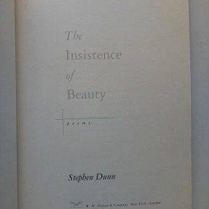 The Insistence of Beauty Second Hand Books