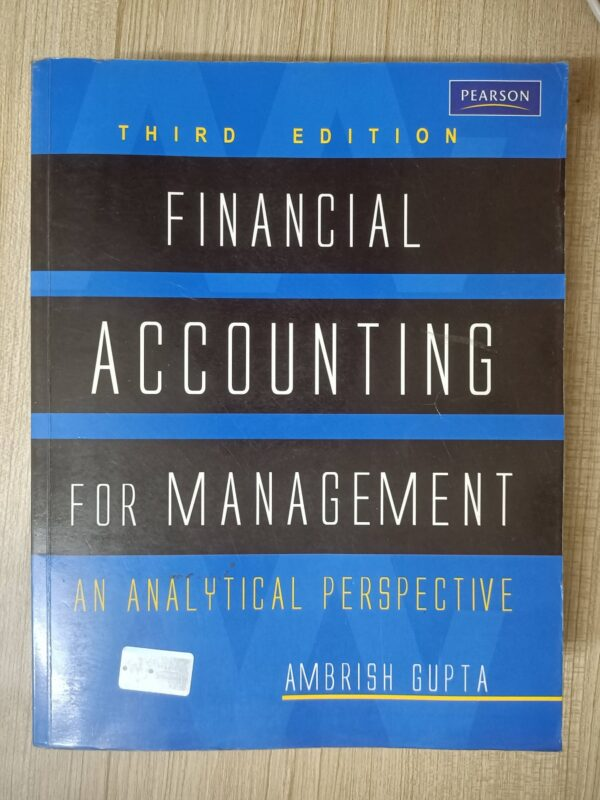 Second hand book Financial Accounting for Management